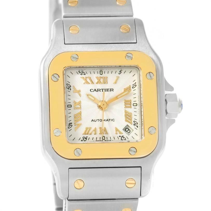 12158 Cartier Santos Small Steel 18K Yellow Gold Automatic Watch W20057C4 SwissWatchExpo