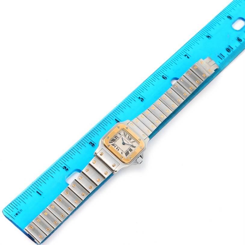 12159 Cartier Santos Galbee Ladies Steel 18K Yellow Gold Watch W20012C4 SwissWatchExpo