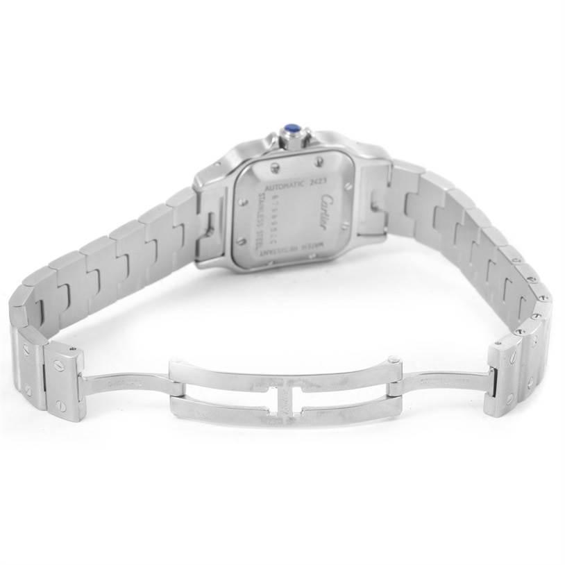 9038 Cartier Santos Galbee Ladies Stainless Steel Automatic Watch W20044D6 SwissWatchExpo