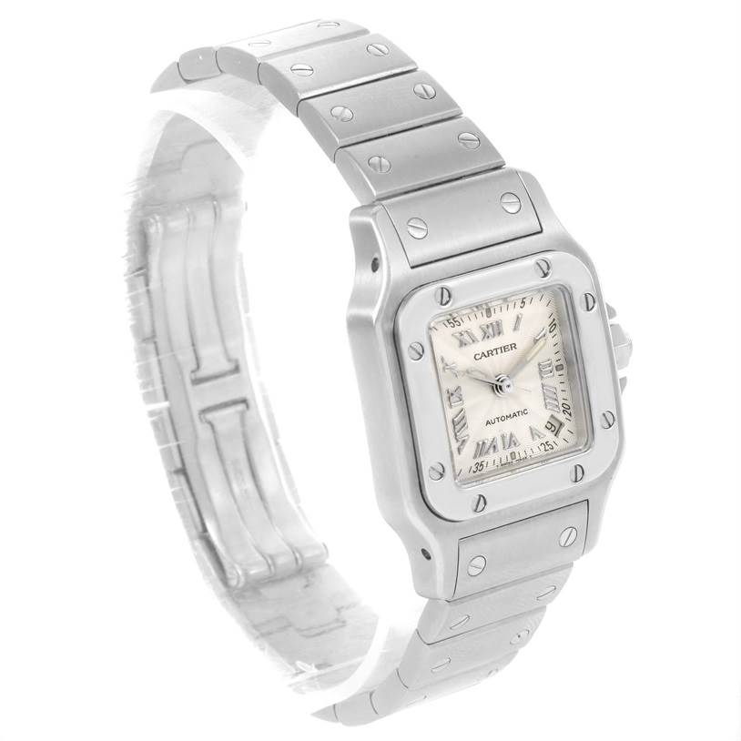 9038 Cartier Santos Galbee Ladies Stainless Steel Automatic Watch W20044D6 SwissWatchExpo