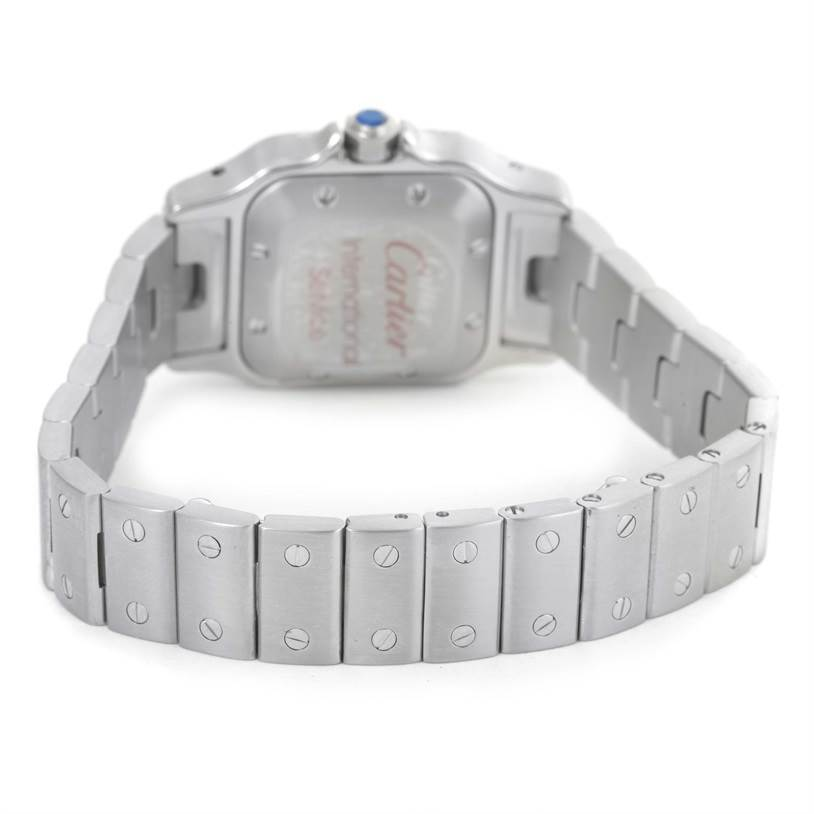 12611 Cartier Santos Galbee Ladies Stainless Steel Automatic Watch W20044D6 SwissWatchExpo