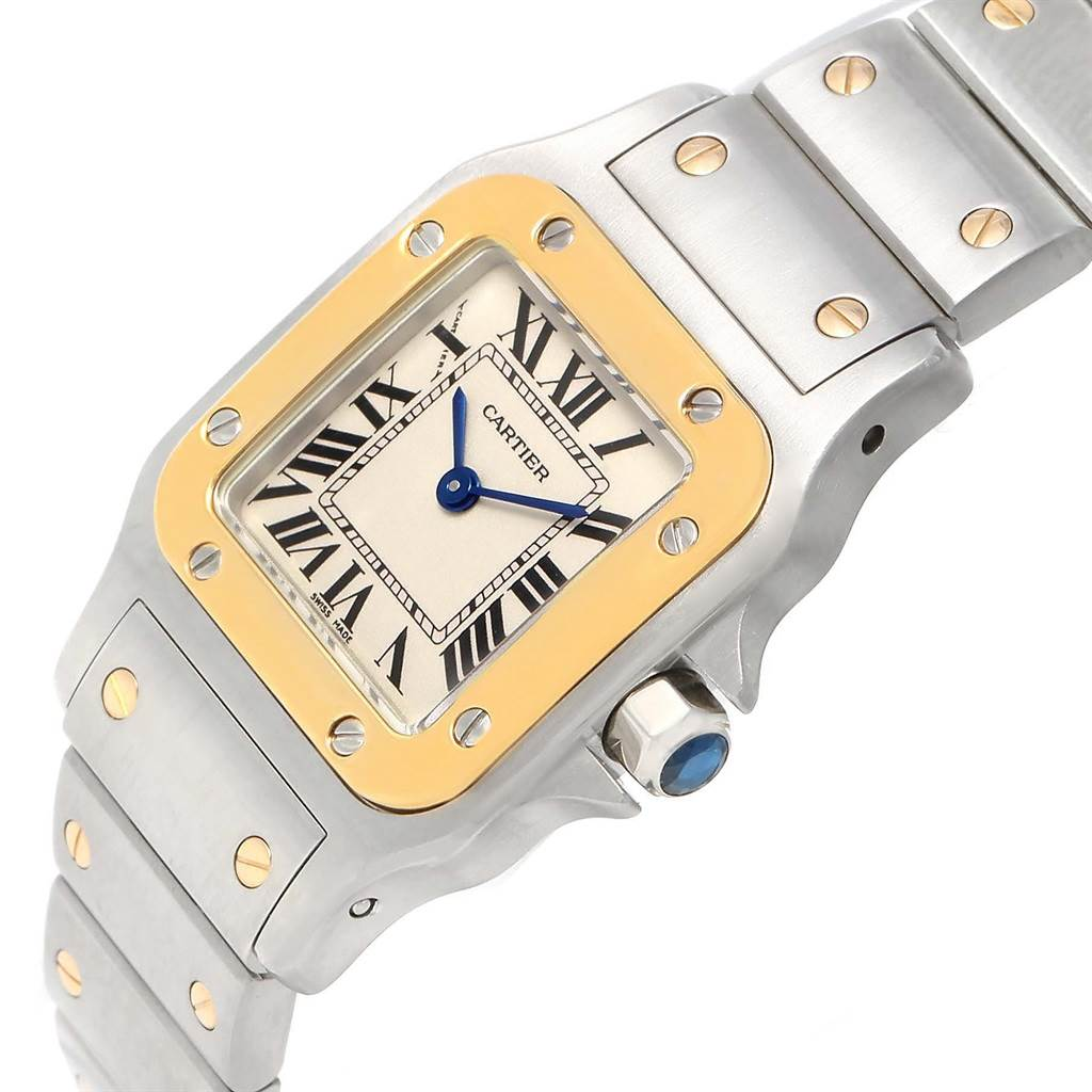 13504 Cartier Santos Galbee Ladies Steel Yellow Gold Watch W20012C4 Year 2012 SwissWatchExpo