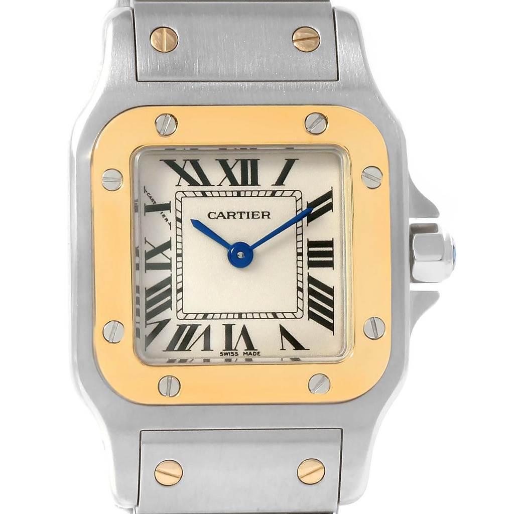 13504 Cartier Santos Galbee Ladies Steel Yellow Gold Watch W20012C4 Year 2012 SwissWatchExpo