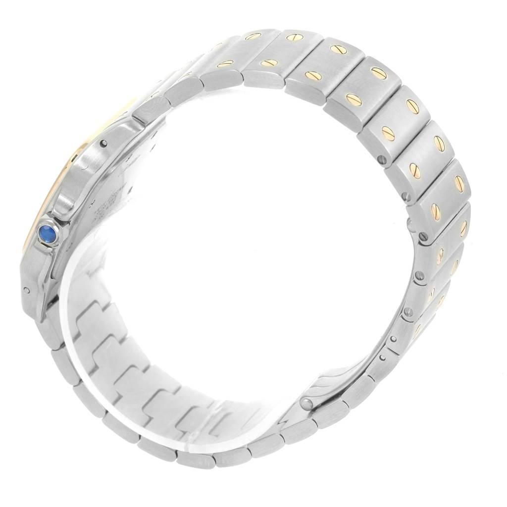 13652 Cartier Santos Galbee Large Steel 18K Yellow Gold Quartz Watch W20011C4 SwissWatchExpo