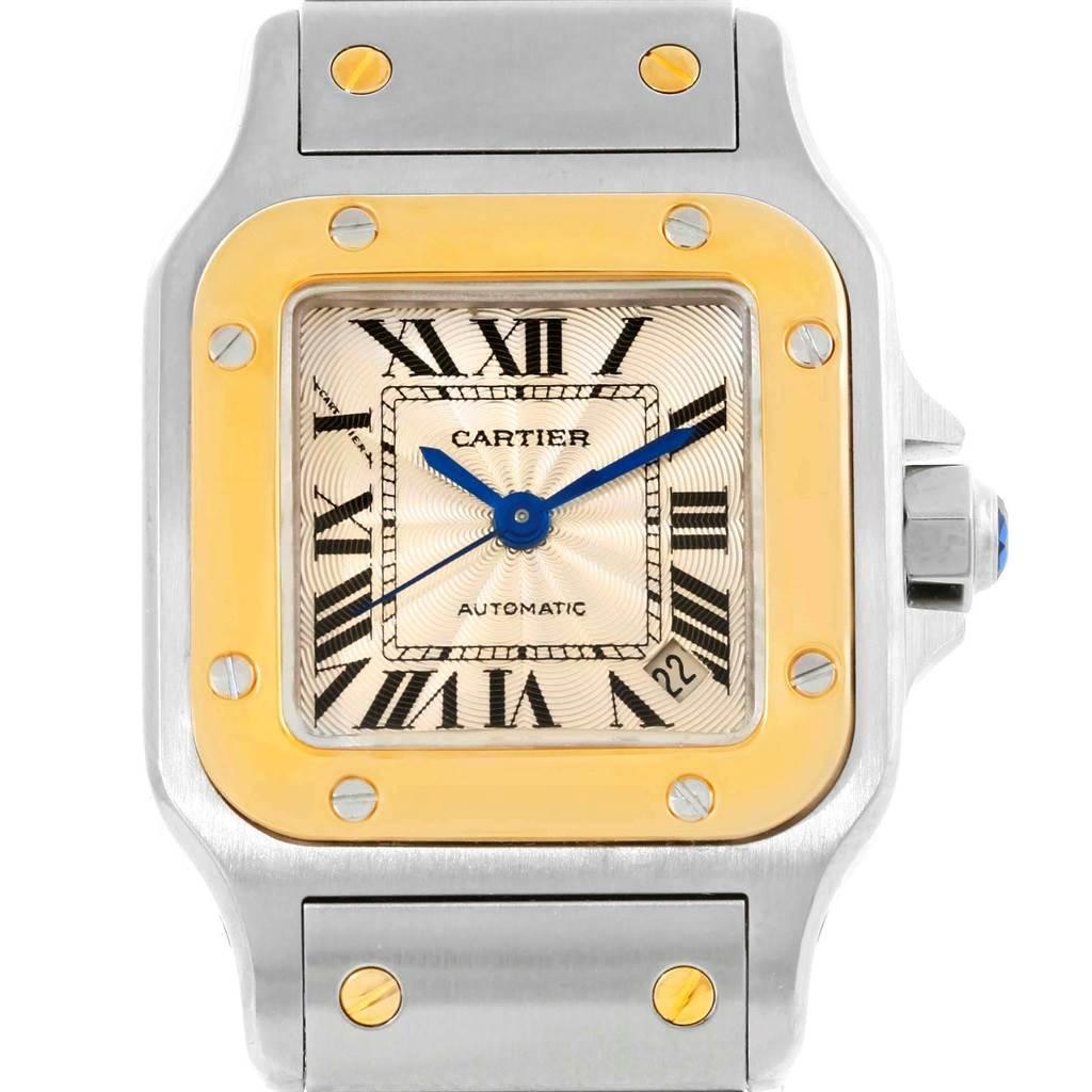 14396 Cartier Santos Small Steel 18K Yellow Gold Ladies Watch W20057C4 SwissWatchExpo