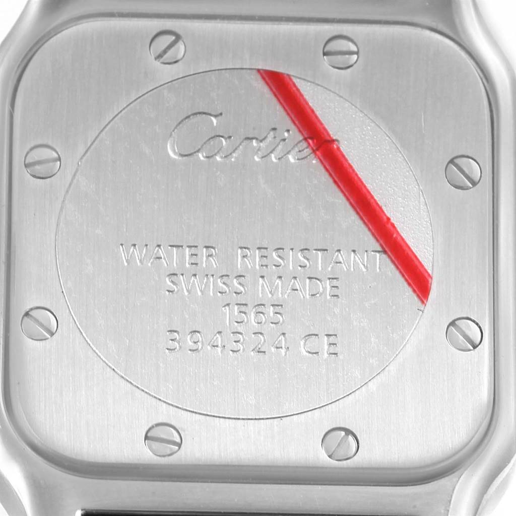 14746 Cartier Santos Galbee Small Steel Silver Dial Quartz Watch W20056D6 SwissWatchExpo