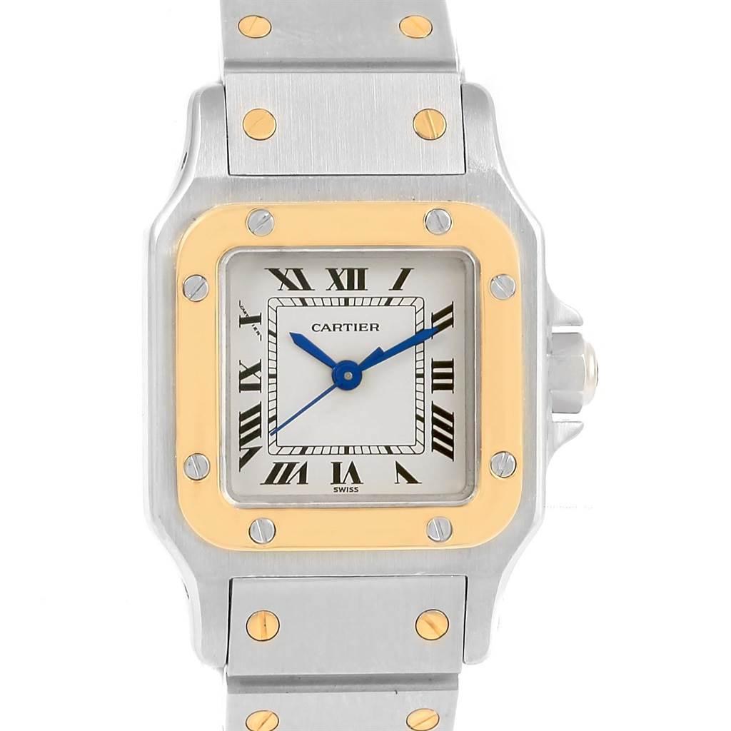 15361 Cartier Santos Galbee Ladies Steel Yellow Gold Automatic Watch SwissWatchExpo