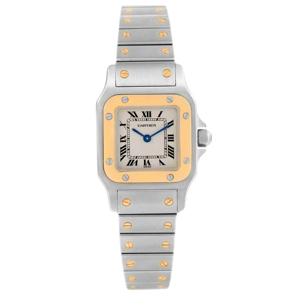 15360 Cartier Santos Galbee Ladies Steel Yellow Gold Quartz Watch 1057930 SwissWatchExpo
