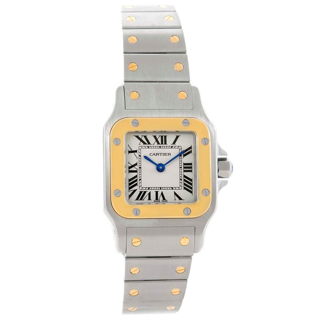 15095 Cartier Santos Galbee Ladies Steel 18K Yellow Gold Watch W20012C4 SwissWatchExpo