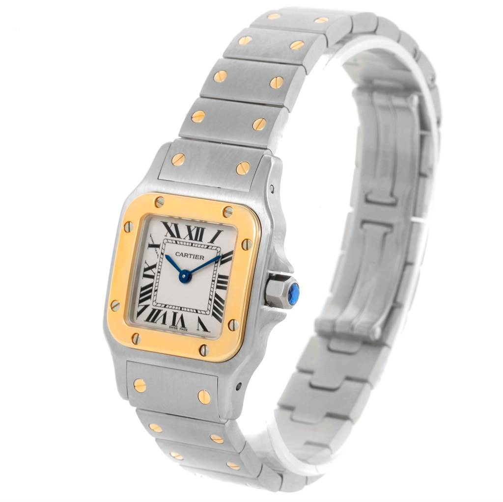 15095 Cartier Santos Galbee Ladies Steel 18K Yellow Gold Watch W20012C4 SwissWatchExpo