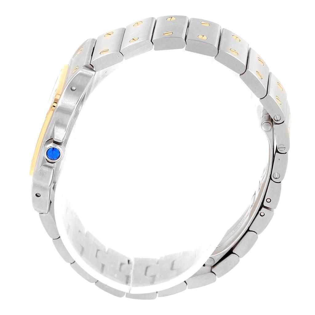 Cartier Santos Galbee Ladies Steel 18K Yellow Gold Watch W20012C4 SwissWatchExpo