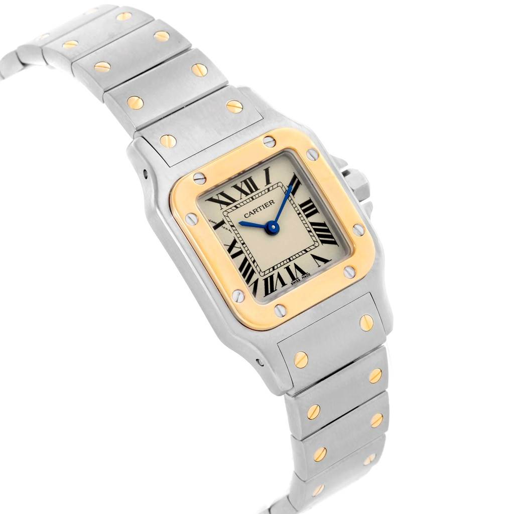 16964 Cartier Santos Galbee Ladies Steel 18K Yellow Gold Watch W20012C4 SwissWatchExpo