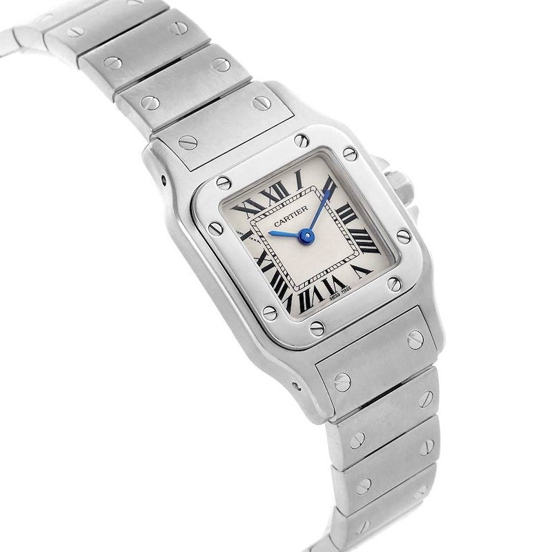 Cartier Santos Galbee Small Steel Silver Dial Quartz Watch W20056D6 SwissWatchExpo