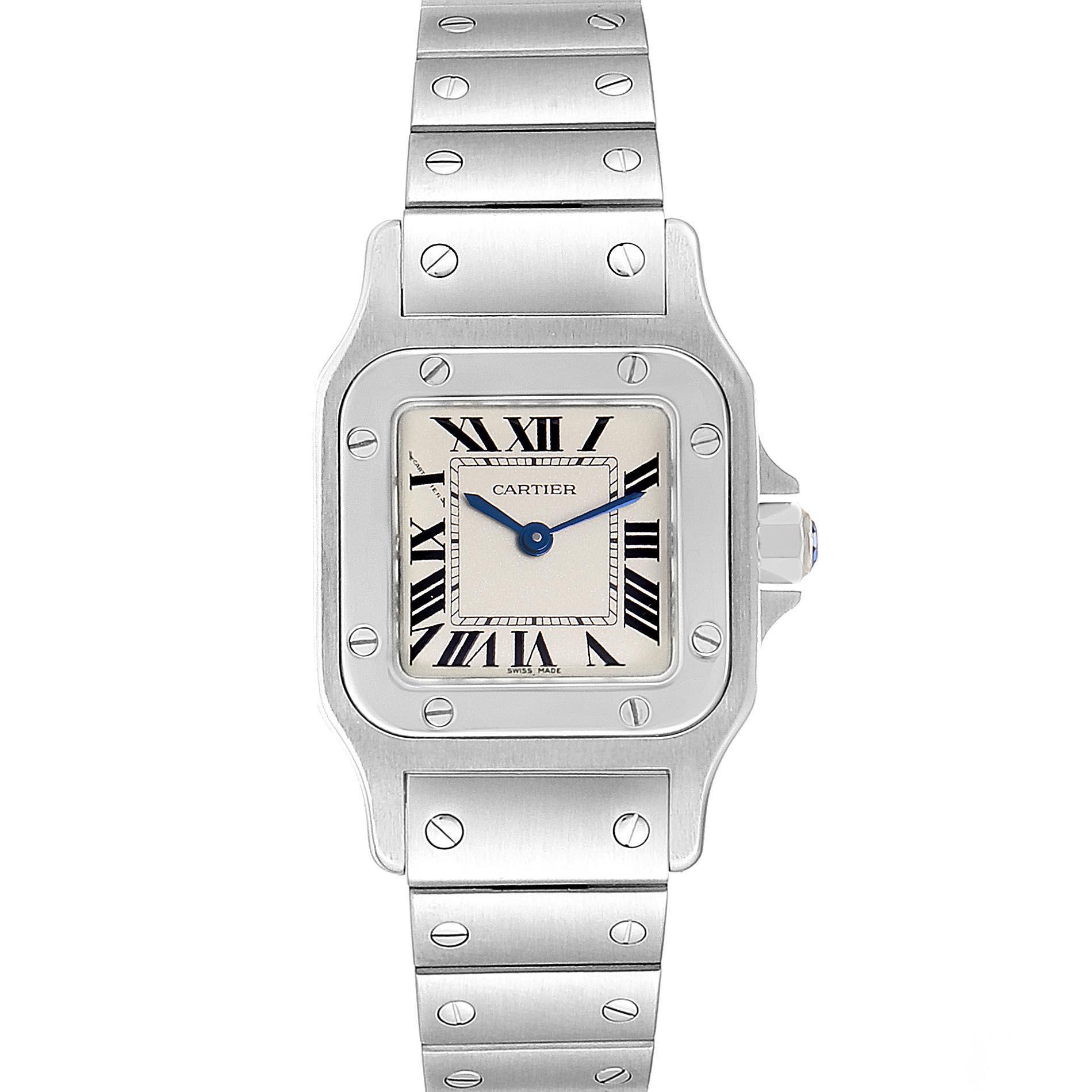 Cartier Santos Galbee Small Steel Silver Dial Quartz Watch W20056D6