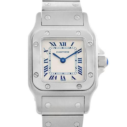 Photo of Cartier Santos Galbee Silver Roman Dial Ladies Steel Quartz Watch 1565