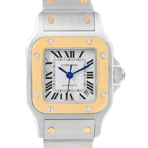 Photo of Cartier Santos Galbee Steel Yellow Gold Ladies Watch W20057C4 Box Papers
