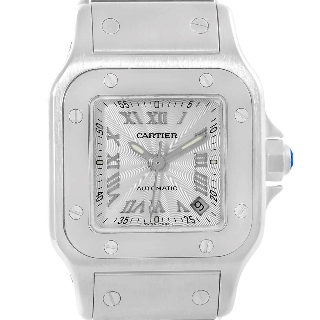 18415 Cartier Santos Galbee Ladies Stainless Steel Automatic Watch W20044D6 SwissWatchExpo