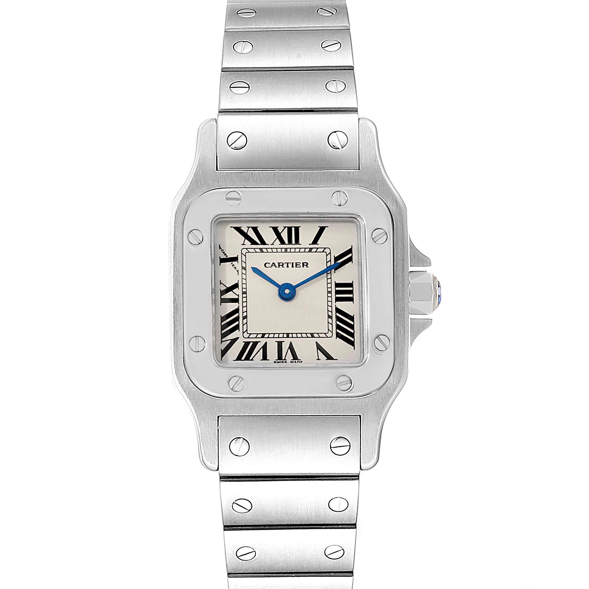 Photo of Cartier Santos Galbee Small Steel Silver Dial Ladies Watch W20056D6