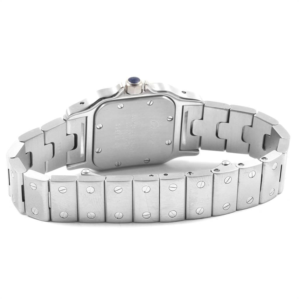 Cartier Santos Galbee Small Steel Silver Dial Ladies Watch W20056D6 SwissWatchExpo
