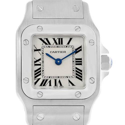 Photo of Cartier Santos Galbee Silver Roman Dial Steel Ladies Watch W20056D6