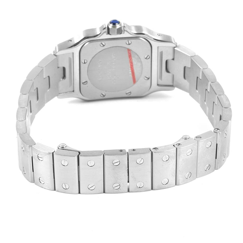 13048 Cartier Santos Galbee Small Steel Ladies Watch W20056D6 SwissWatchExpo