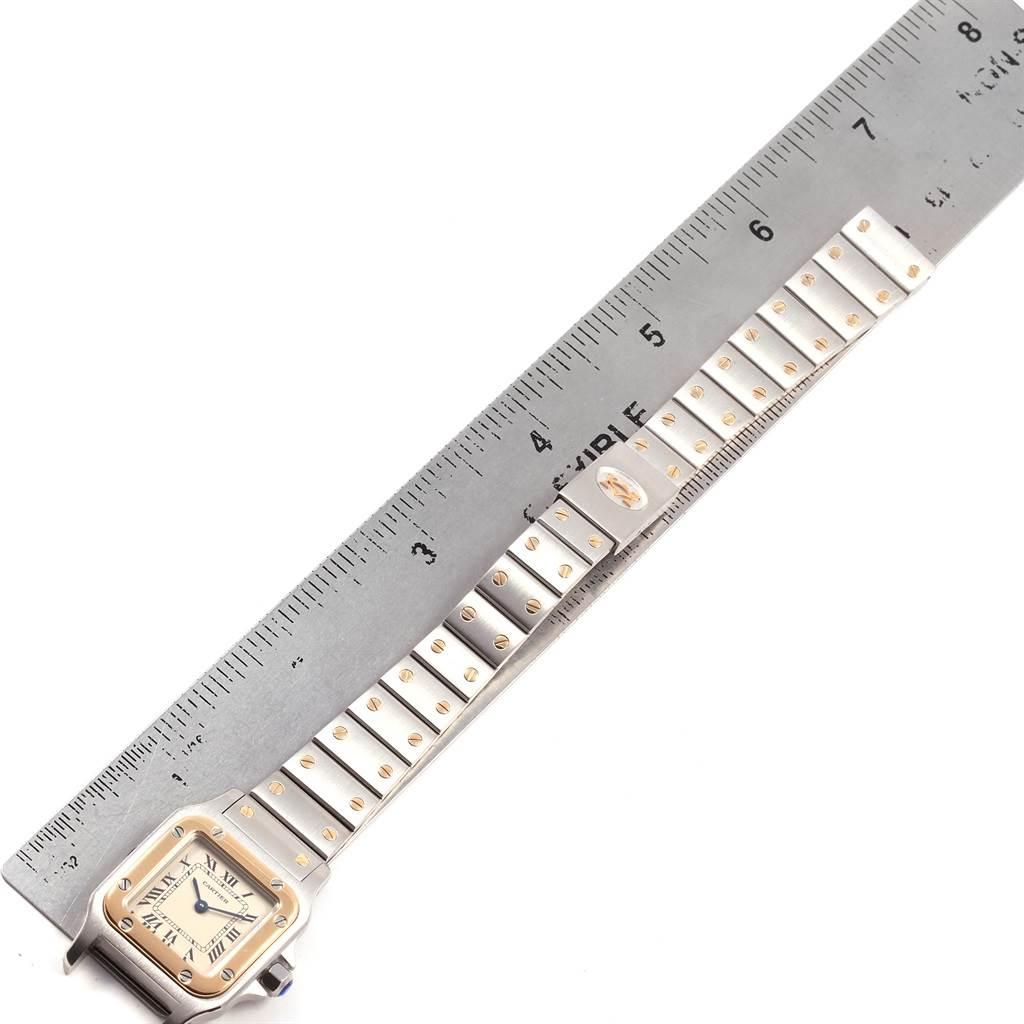 21247 Cartier Santos Galbee Ladies Steel Yellow Gold Automatic Watch 1057930 SwissWatchExpo