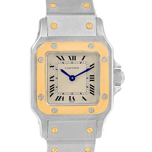 Photo of Cartier Santos Galbee Ladies Steel Yellow Gold Automatic Watch 1057930