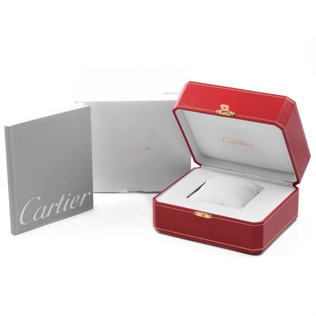 14102 Cartier Santos Demoiselle Steel Midsize Watch W25065Z5 Box Papers SwissWatchExpo