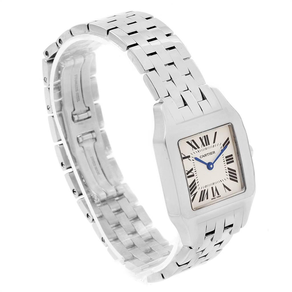 14102 Cartier Santos Demoiselle Steel Midsize Watch W25065Z5 Box Papers SwissWatchExpo