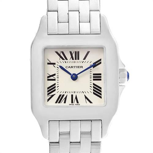 Photo of Cartier Santos Demoiselle Steel Midsize Watch W25065Z5 Box Papers