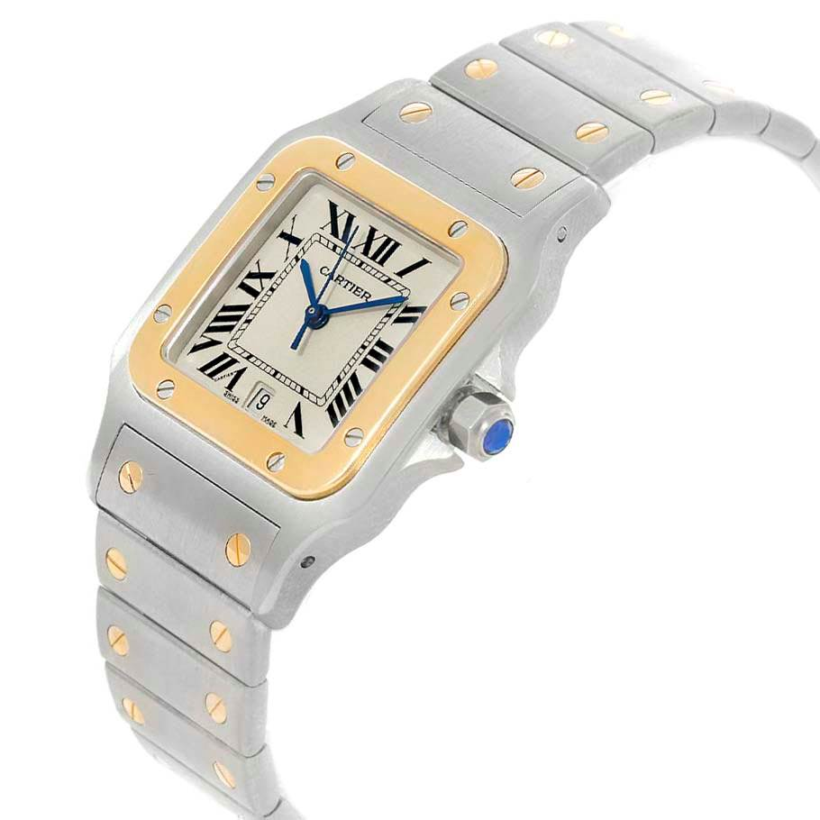 19746 Cartier Santos Galbee Large Steel Yellow Gold Watch W20011C4 Box SwissWatchExpo