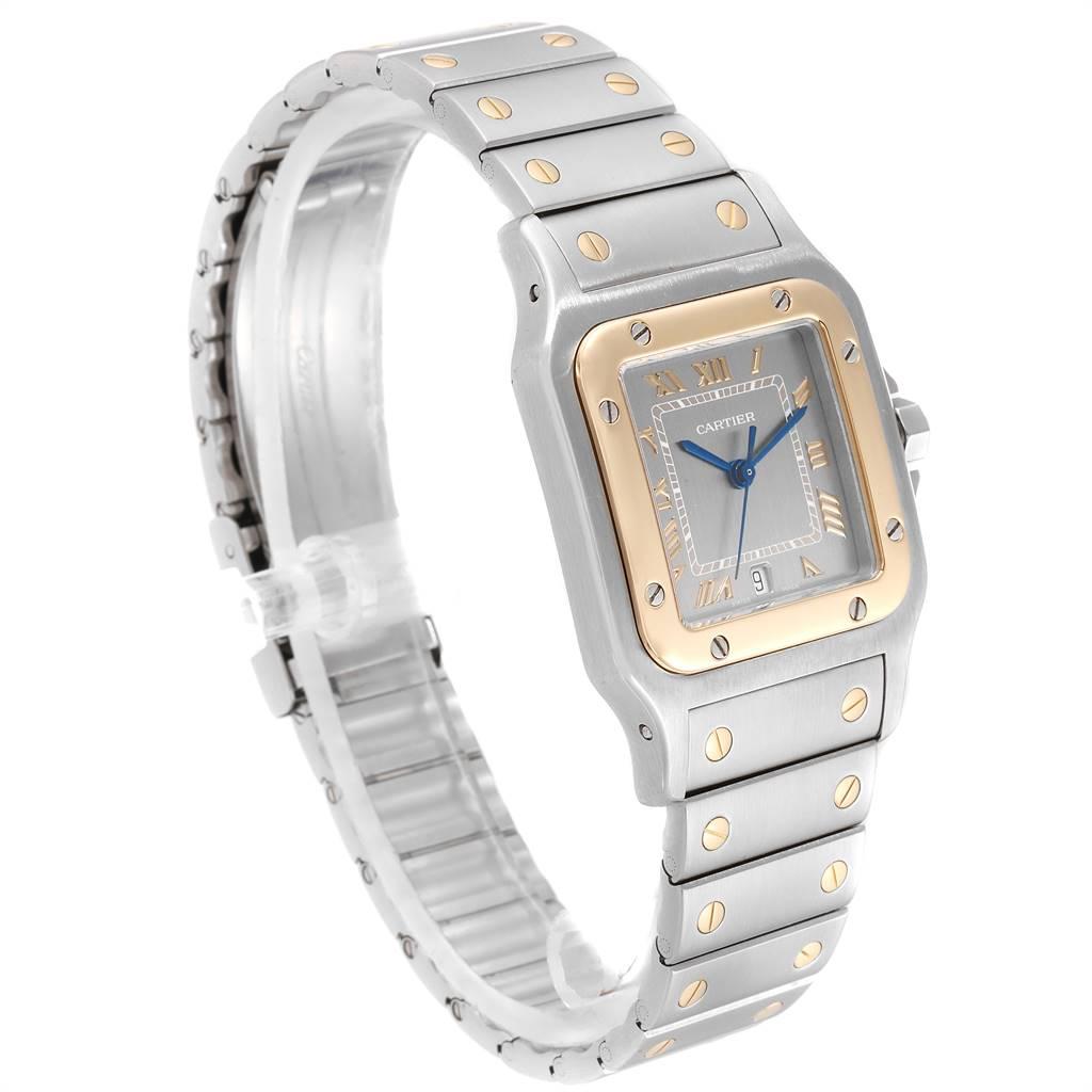 Cartier Santos Galbee Large Steel Yellow Gold Unisex Watch 1566 SwissWatchExpo
