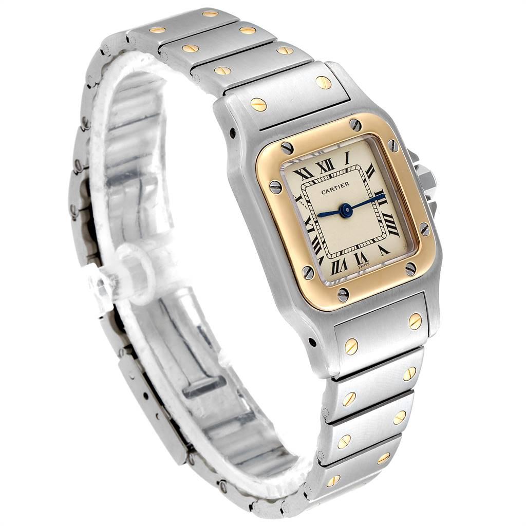 Cartier Santos Galbee Steel Yellow Gold Quartz Ladies Watch 166930 SwissWatchExpo