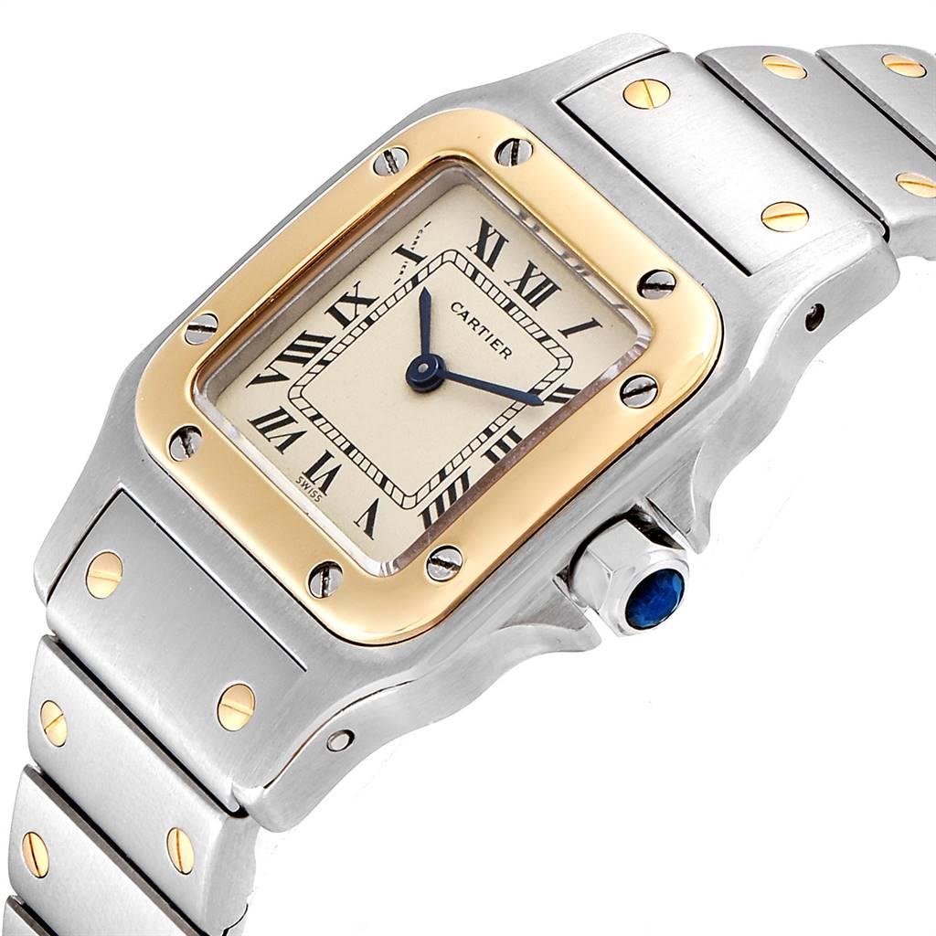 24321 Cartier Santos Galbee Steel Yellow Gold Quartz Ladies Watch 166930 SwissWatchExpo