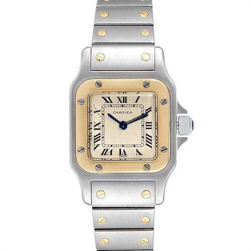Photo of Cartier Santos Galbee Steel Yellow Gold Quartz Ladies Watch 166930