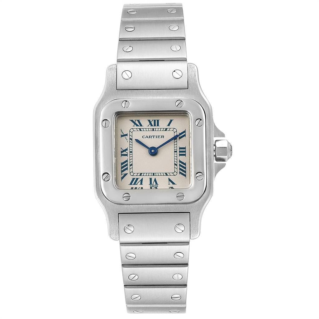 24997 Cartier Santos Galbee Stainless Steel Quartz Ladies Watch 1565 SwissWatchExpo