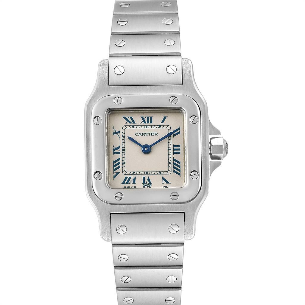 Cartier Santos Galbee Stainless Steel Quartz Ladies Watch 1565 SwissWatchExpo