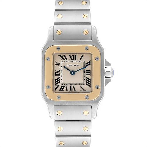 Photo of Cartier Santos Galbee Steel Yellow Gold Ladies Watch W20012C4