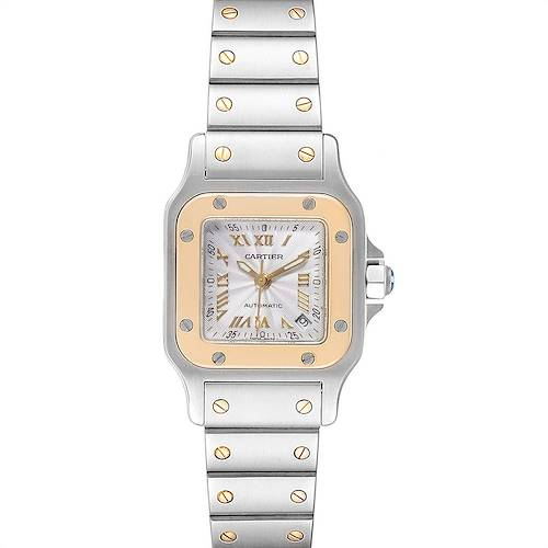 Photo of Cartier Santos Steel Yellow Gold Automatic Ladies Watch W20057C4 Box Papers
