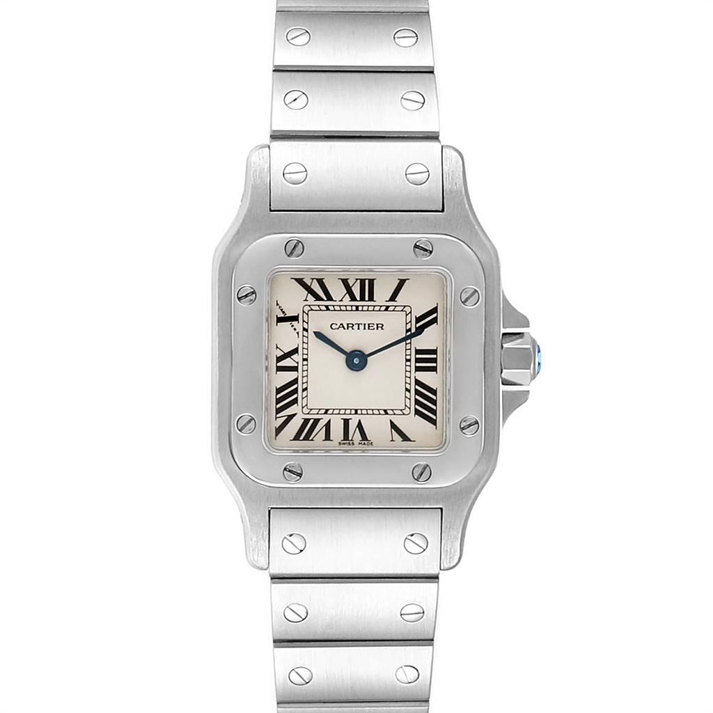 Cartier Santos Galbee Small Steel Ladies Watch W20056D6
