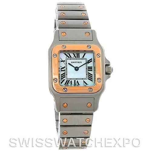 2978 Cartier Santos Ladies Two Tone Quartz Watch W20012C4 SwissWatchExpo
