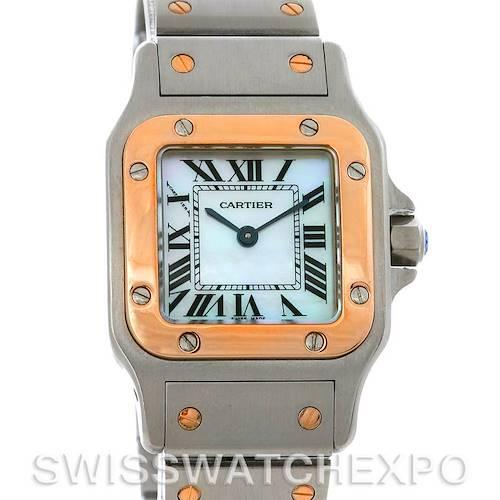 Photo of Cartier Santos Ladies Two Tone Quartz Watch W20012C4