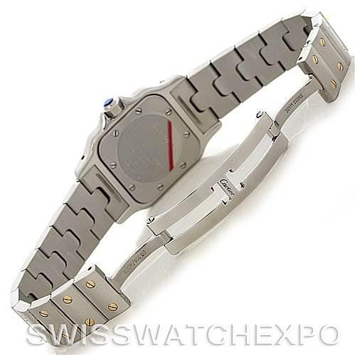 4167 Cartier Santos Ladies Steel 18K Yellow Gold Quartz Watch W20012C4 SwissWatchExpo