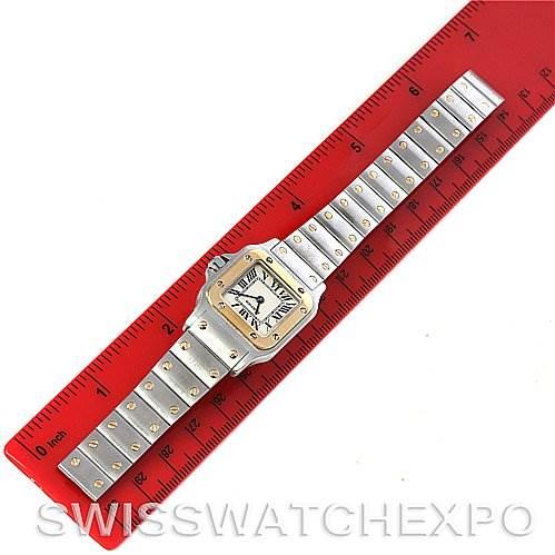 4203 Cartier Santos Ladies Steel 18K Yellow Gold Quartz Watch W20012C4 SwissWatchExpo
