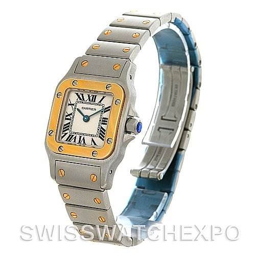 4254 Cartier Santos Ladies Stainless Steel and 18K Yellow Gold Quartz Watch W20012C4 SwissWatchExpo
