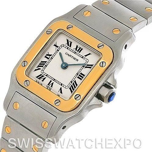 4304 Cartier Santos Ladies Steel 18K Yellow Gold Quartz Watch W20012C4 SwissWatchExpo