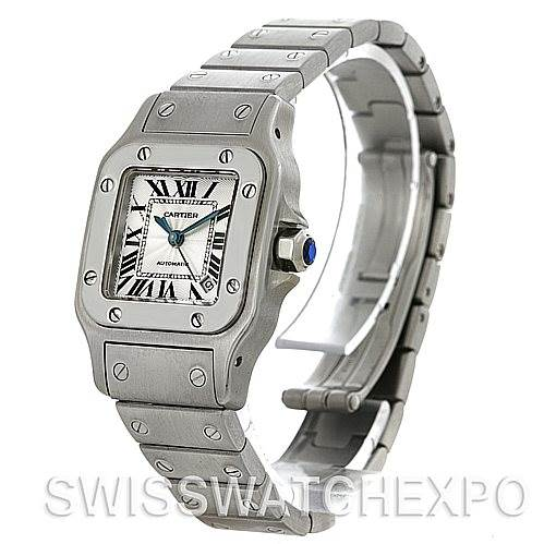 4445 Cartier Santos Galbee Ladies Steel Automatic Watch W20054D6 SwissWatchExpo
