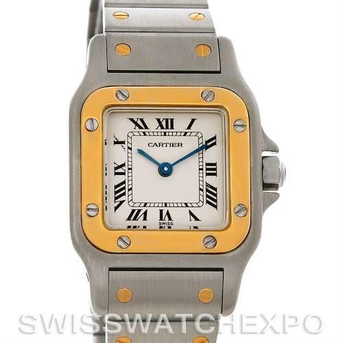 Photo of Cartier Santos Ladies Steel 18K Yellow Gold Quartz W20012C4 Watch