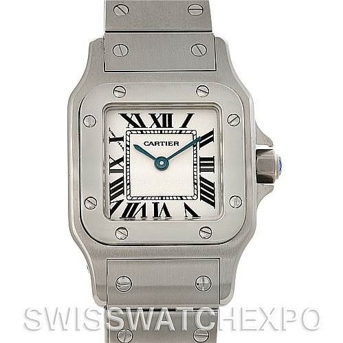 4479 Cartier Santos Galbee Ladies Steel Quartz Watch W20056D6 NOS SwissWatchExpo
