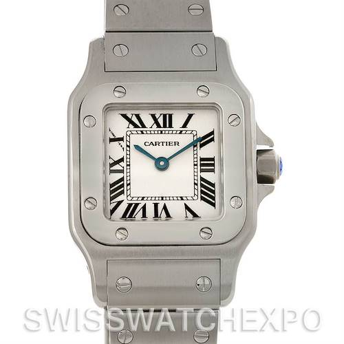 Photo of Cartier Santos Galbee Ladies Steel Quartz Watch W20056D6 NOS